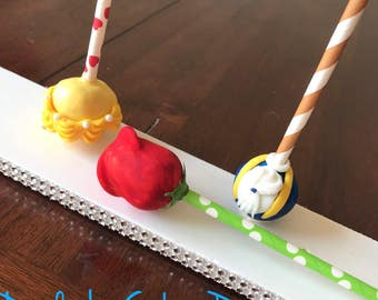 Beauty and the Beast inspired cake pops/ Belle disney princess/ Beast/Rose