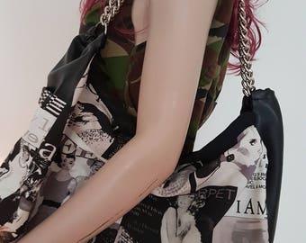 Fashion Magazine/Newspaper Shoulder Chain Bag