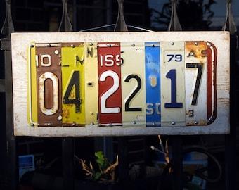 Anniversary/Wedding/Birthday date custom license plate signs