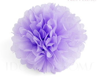 Rich Lilac - Lavender - Purple Tissue Paper Pom Poms - Wedding Party Decorations - Baby shower Decorations