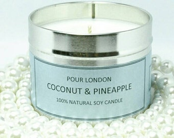 Coconut & Pineapple Eco soy wax scented candle