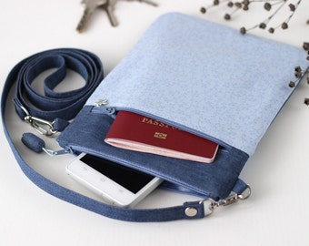 Small crossbody bag sling travel purse crossbody strap shoulder purse travel document holder passport travel case iphone samsung cell phone