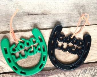 Lucky Horseshoe Gift - Going Away Gift - Gifts Under 15 - Good Luck Charm - Lucky Charm - Retirement Gifts - Good Luck Gift - Horseshoe Art