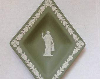 Wedgwood Green Jasperware  Decorative Dish