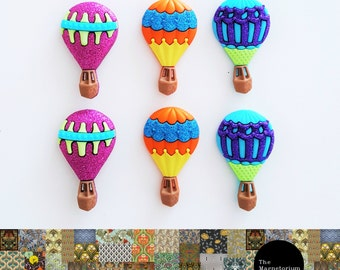 Hot Air Balloon Fridge Magnet Set