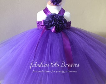 Delicious Deep Purple Baby Tutu Dress.