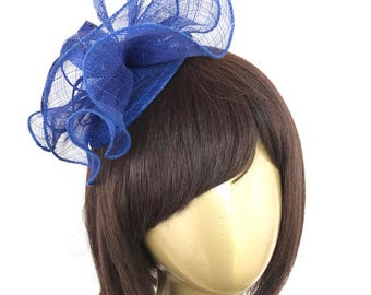 Royal Blue Fascinator, Tea Party Hat, Church Hat, Derby Hat, Fancy Hat, High Tea Hat, wedding hat, Blue Fascinator, womens hat