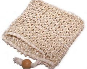 Sisal Soap Saver, Sisal Soap Bag, Natural Sisal Soap Bag, Soap Sack, Sisal Washcloth Pouch, Sisal Exfoliating Pouch,
