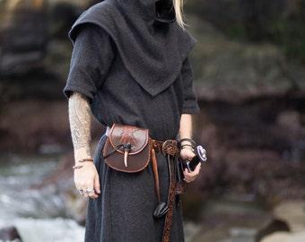 Wool Viking Skjoldehamn Archer Oversized Hood, Garb, Historical, Norse, SCA, LARP, HEMA, Reenactment, Medieval, Renaissance, Elf