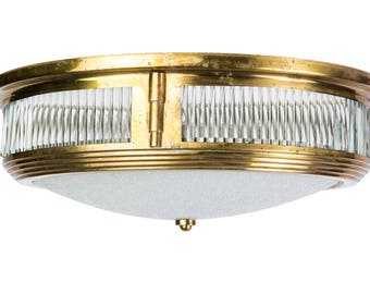 Beautiful 1940's Art Deco Flush Mount Attributed to Perzel