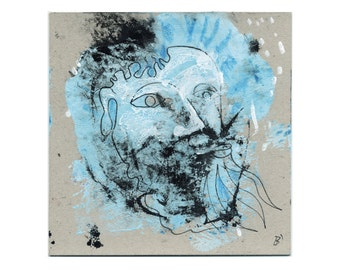 Free art portrait 15/15 cm (5.9/5.9 inch)