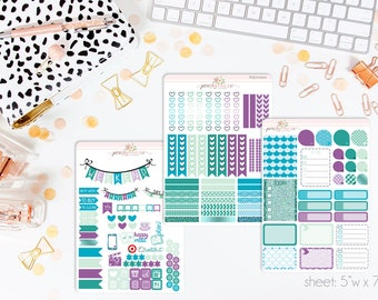 Siren VERTICAL Weekly Kit // 140+ Matte Planner Stickers // Perfect for your Erin Condren Life Planner // WKV0100