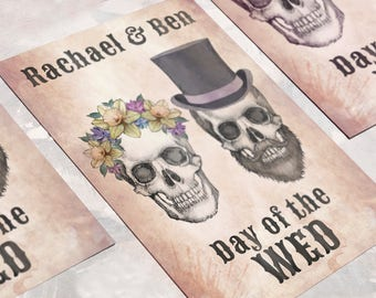 Day of the Dead Wedding Invitation - Invite Suite sample