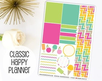 Summer Pop Washi Sheet | Made to fit Classic Happy Planner 642L5