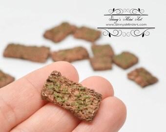 1:12 Dollhouse Miniature Aged Bricks 12 PCS/ Miniature Bricks AZ A1823AG