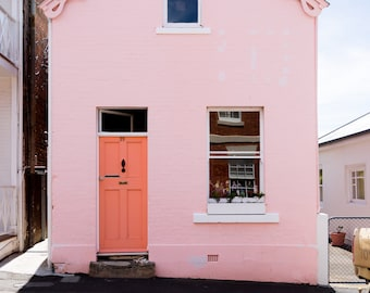 Pink House Hobart Tasmania photography  fine art print