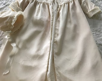 Vintage Baby Christening Coat and Bonnet