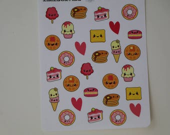 Kawaii Sweet Treats Planner Stickers | L100
