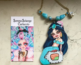 Sushirena Jasmine necklace-original piece by Serena Solange Carluccio