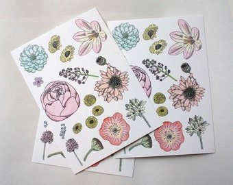 Postcard : Wild Flowers.