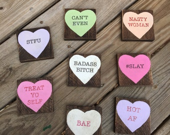 Rejected Conversation Heart Valentine's