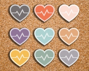 54 Heart Rate, Cardio Icon Planner Stickers for 2017 Inkwell Press IWP-DC31