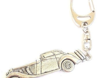 Car Handcrafted from Solid Pewter In the UK Key Ring