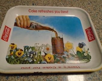 Vintage 1960's Coca Cola Advertising Tray