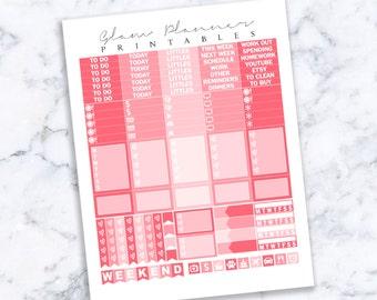 Printable Planner Stickers: 08 (Erin Condren Life Planner PDF)
