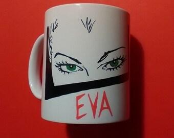 Bianca hand painted mug-Eva Kant handpainted mug