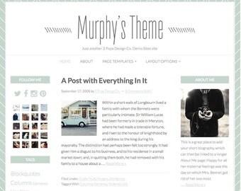 Wordpress Blog Design, Genesis Child Theme, Mint Green Website Design