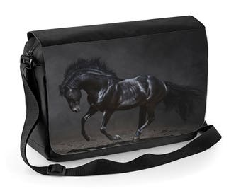 Black Horse Messenger bag