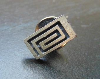Vintage Sterling Silver Spiral Pin