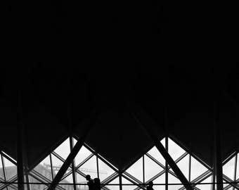 London Photography, Black And White Photography, Kings Cross Station, Silhouette Art, Wall Art, Art Print, Wall Decor, Home Decor, Giclee