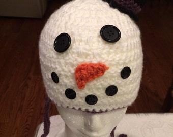 Cozy Winter Snowman Hat