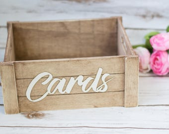 card box rustic mail box wedding card christmas cards box winter wedding decor wooden card box
