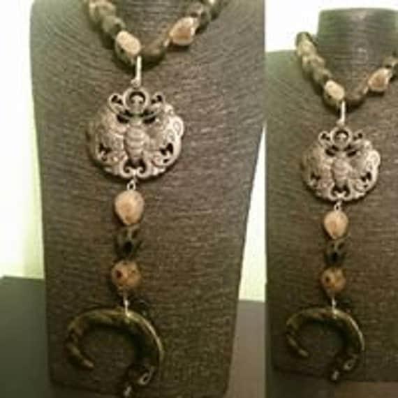 Volcanic stone necklace