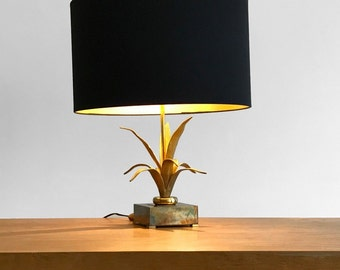 Foliage brass gold - Gilded brass table lamp table lamp
