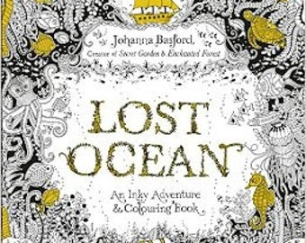 Lost Ocean colouring book by Johanna Basford