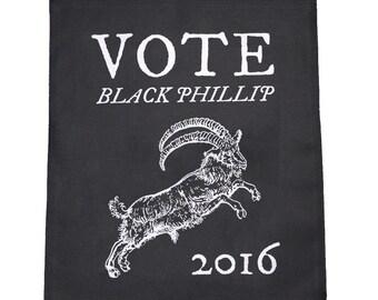 Vote Black Phillip Cloth Large Back Patch