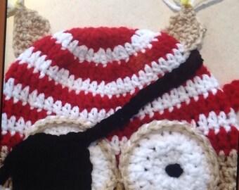 Pirate Owl beanie, owl beanie, owl hat, pirate, child, baby