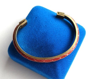 Vintage snakeskin bracelet marked SCA TEL Firenze.
