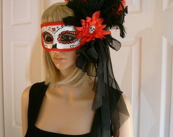 Mask Day of the Dead Dia de los Muertos Holloween Costume Headdress