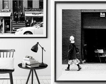 New York Photo Print Series - Photographic Print x2, New York Photo, Photo Print, Wall Art, Framed Photo Print, Black and white, New York