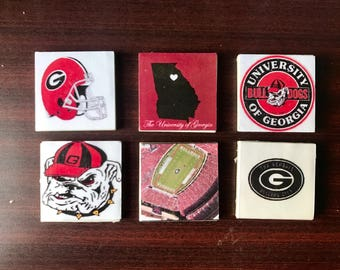 University of Georgia Bulldogs Magnets (set of 6)