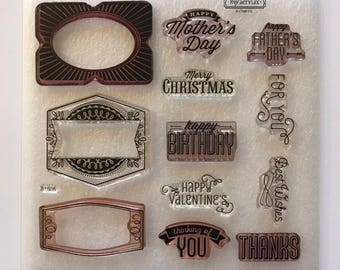 Framed / Stamp Set / Close To My Heart / CTMH / S1508 / Acrylic Stamp Set / Clear Stamp Set / Cardmaking / Scrapbooking / SOTM / Birthday