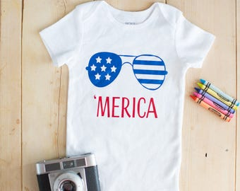 Adorable 'Merica Onesie