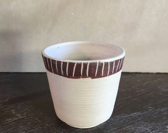 SALE Handmade Stoneware Tea Bowl