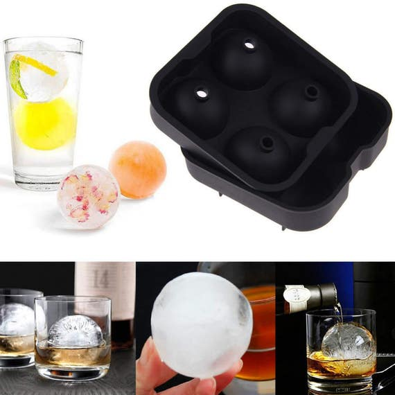 sphere round silicone mold ice cube tray molds diy mould jello. Black Bedroom Furniture Sets. Home Design Ideas
