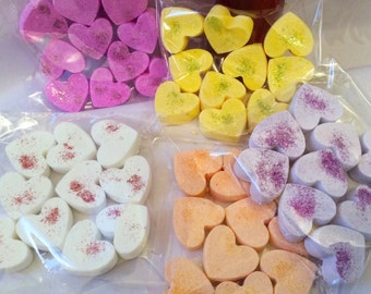 Glitter mini bath bombs , (5 minis per pack )gift , pamper, wedding favours,hen party,  baby showers , bulk order